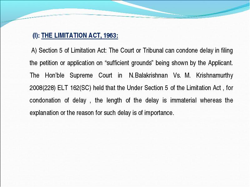 The Limitation Act  I The Limitation Act
