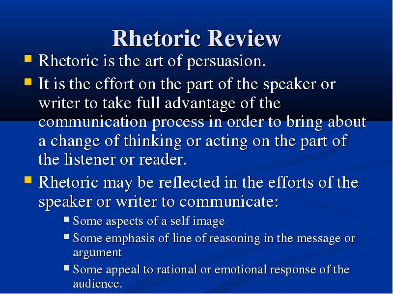 persuasion in response to emotional and rational appeals
