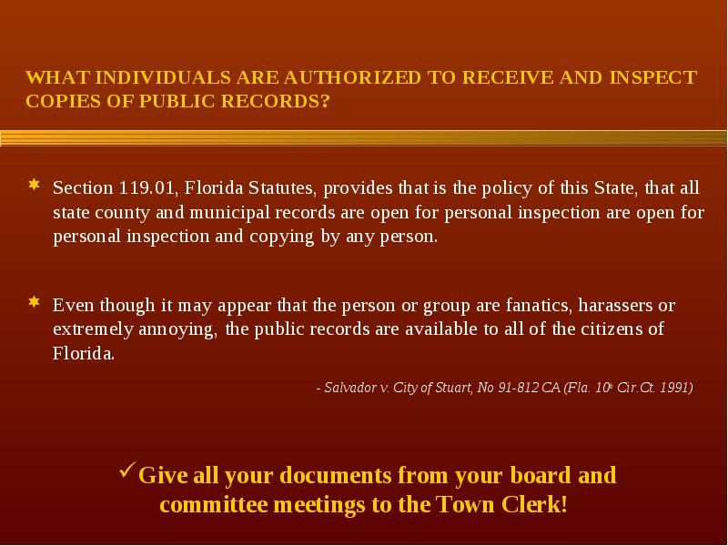 open public records florida