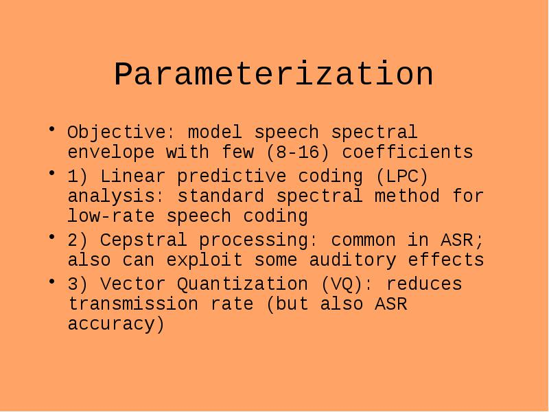 Automatic speech recognition (asr) a pattern recognition task