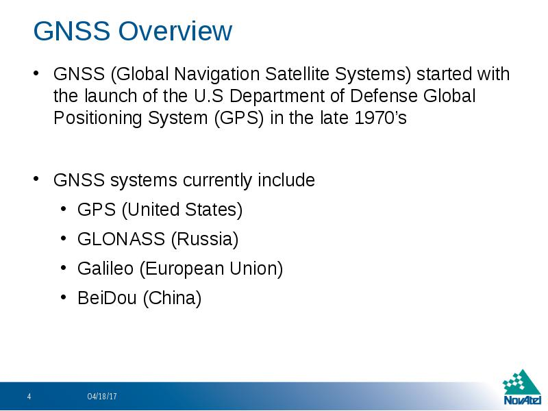 Basic gnss concepts gnss satellite Systems