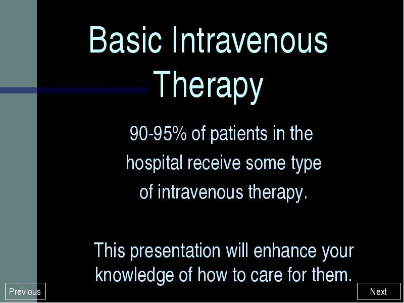 Basic Intravenous Therapy Vein Anatomy and Physiology