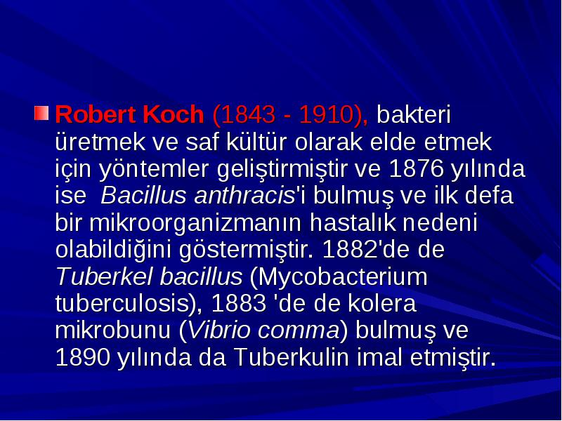 an overview of bacillus anthracis by robert koch in 1877 Robert koch essay examples  3 pages robert koch's discovery of bacteria bacillus anthracis  an overview of bacillus anthracis by robert koch in 1877 308 words.