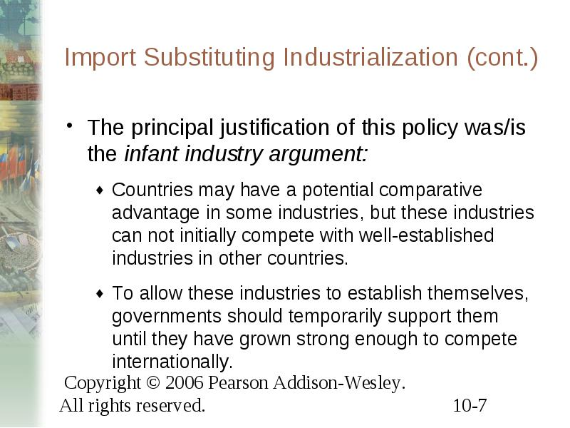 import substitution industrialization essay Import substitution: is it a pragmatic economic policy by nimal sanderatne : pragmatism, the president told an australian business audience, was a fundamental approach of the government's economic policies.