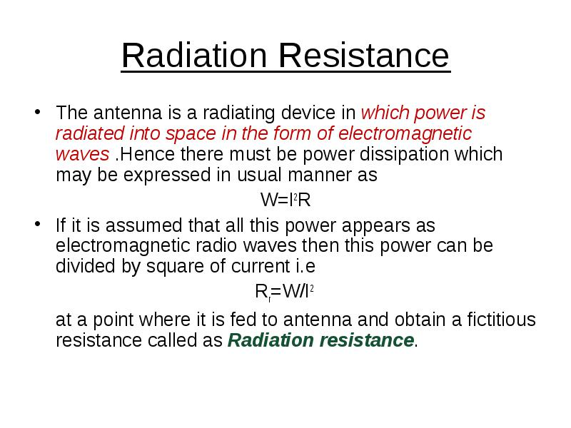 Definition of antenna parameters : Definition of antenna