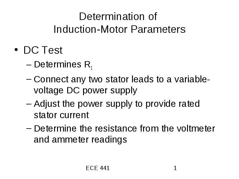 Determination of Induction-Motor Parameters
