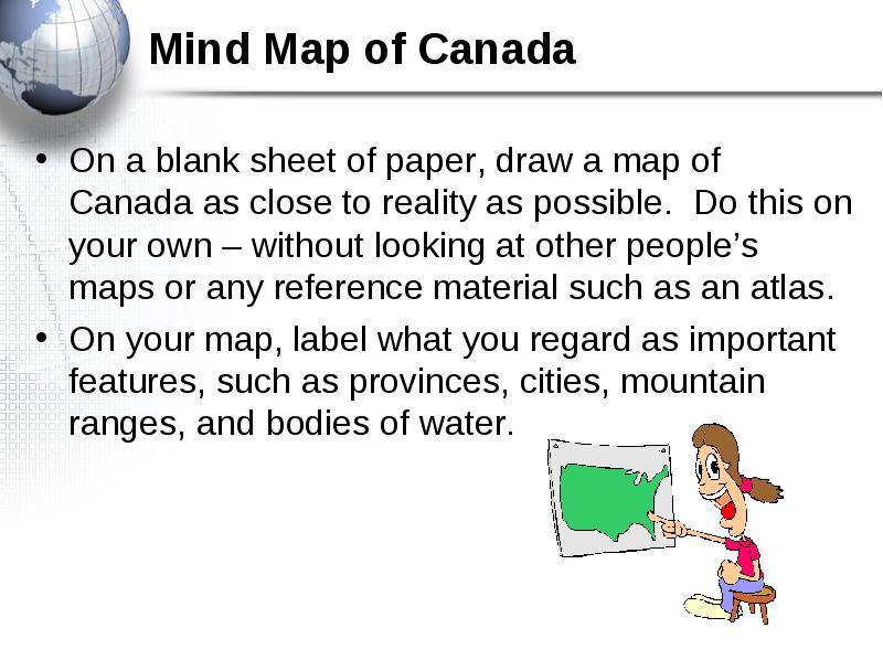 Essential Concepts - Map of canada to label