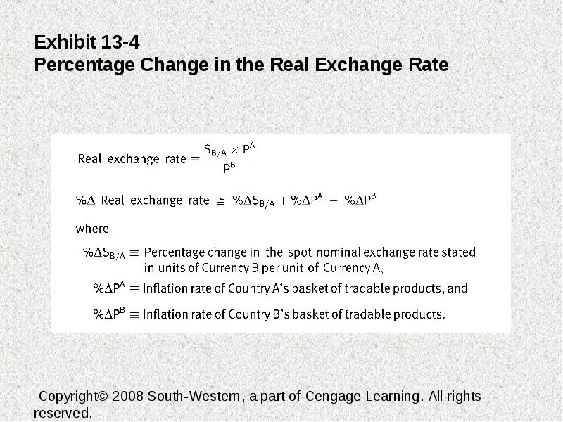 Exhibit 13 1 The Real Exchange Rate