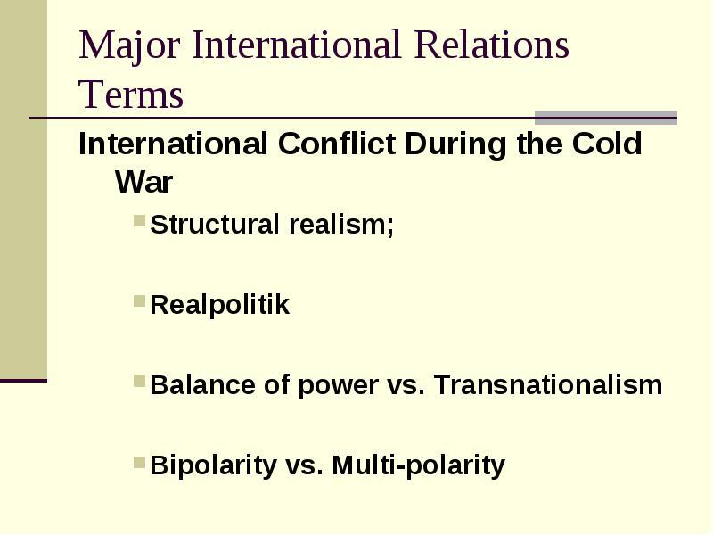 realist approach international relations