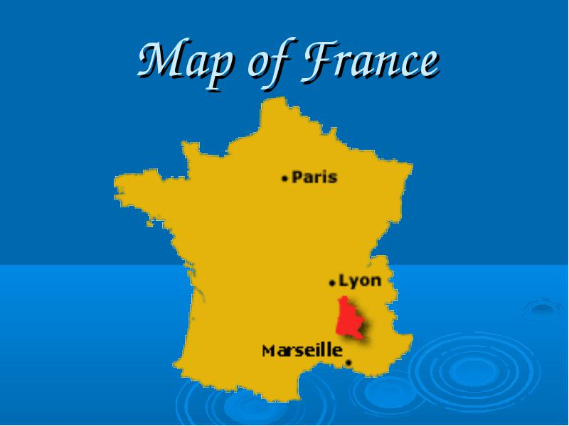 French diary Map of France