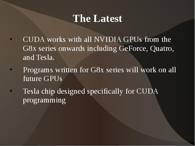Gpu and cuda general Purpose computing on