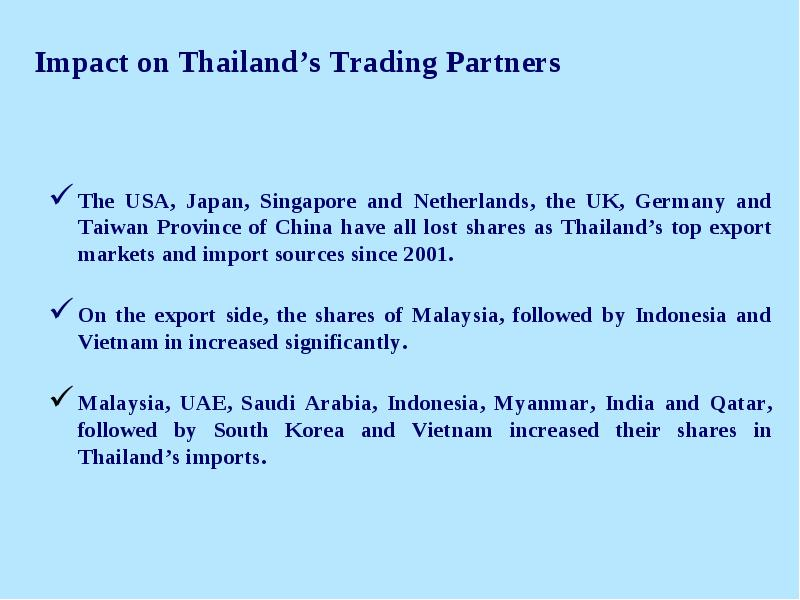 Growing Trade Integration with China: Impact on Thailand's