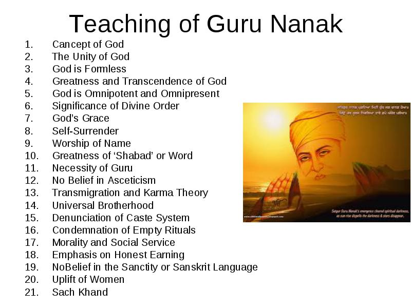 Sanskrit Of The Vedas Vs Modern Sanskrit: Guru Nanak Dev : Life And Teaching Of Guru Nanak, Concept