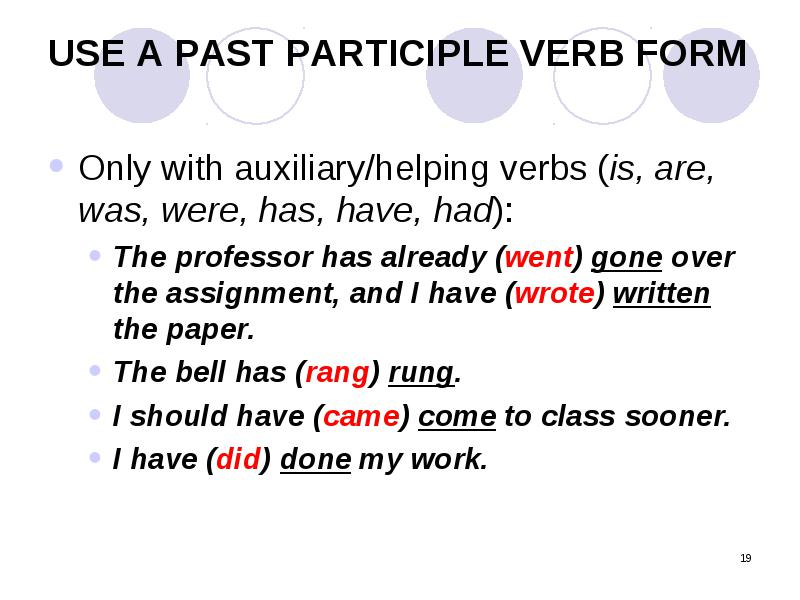 when to use wrote or written