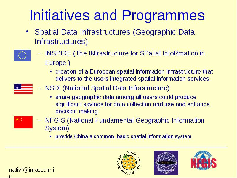 Interoperability between Earth Sciences and gis models: an