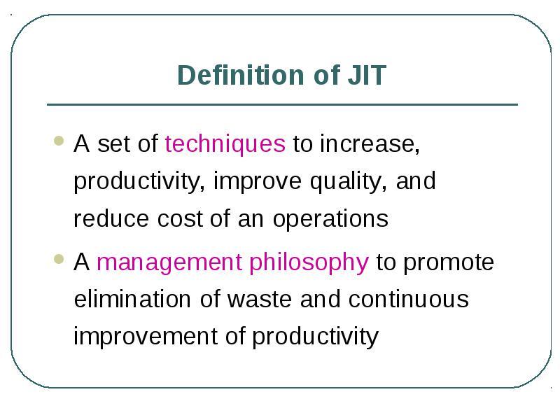 JIT DEFINITION PDF