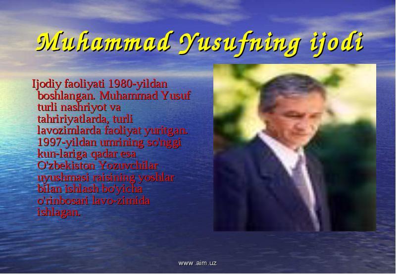 Muhammad yusuf sherlari