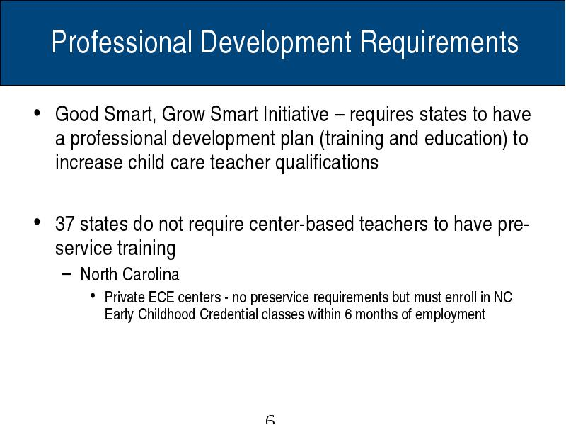 Nc Early Childhood Professional Development Research 2008