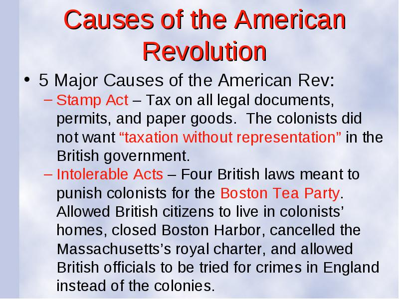 causes of the american revolution frq Kids take a quiz or webquest on the american revolution - causes practice problems online test and questions for students.