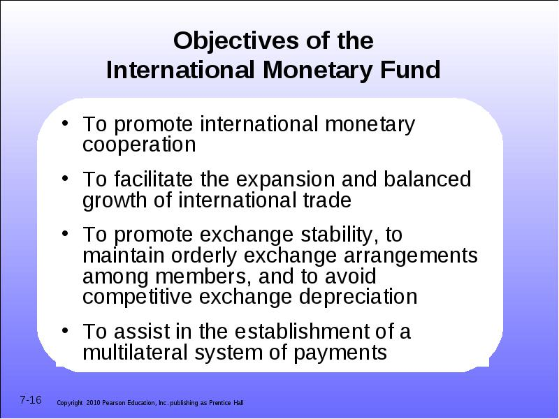 functions of international monetary fund