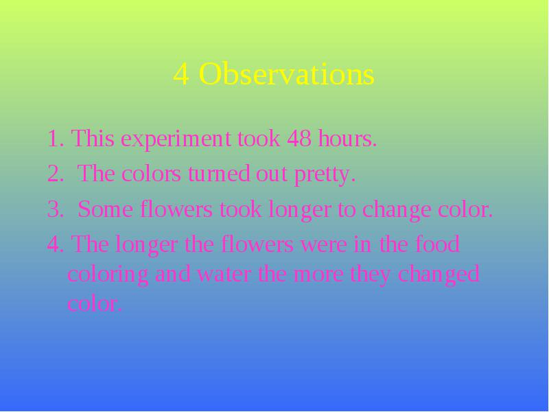 Flowers That Change Color With Food Coloring - Gamgen.com