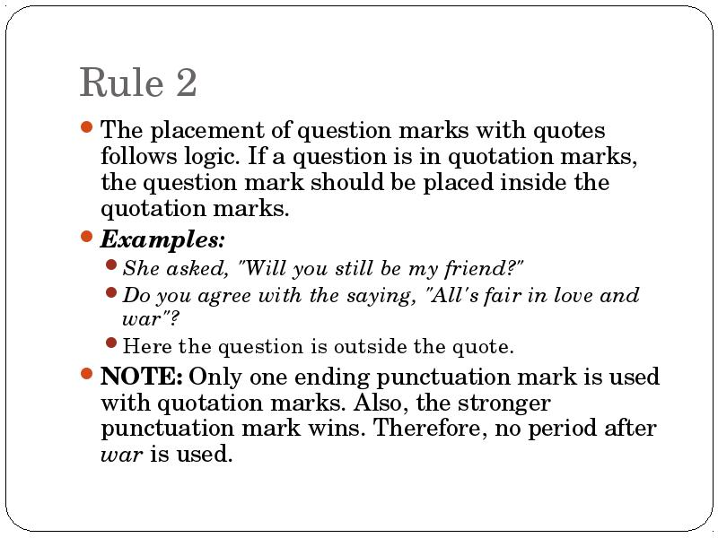 Use Quotation Marks To Set Off A Direct Quotation Only Use