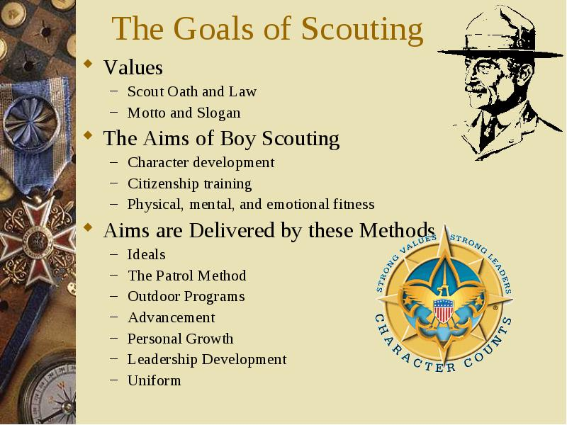 Values Values Scout Oath And Law Motto And Slogan The Aims Of Boy