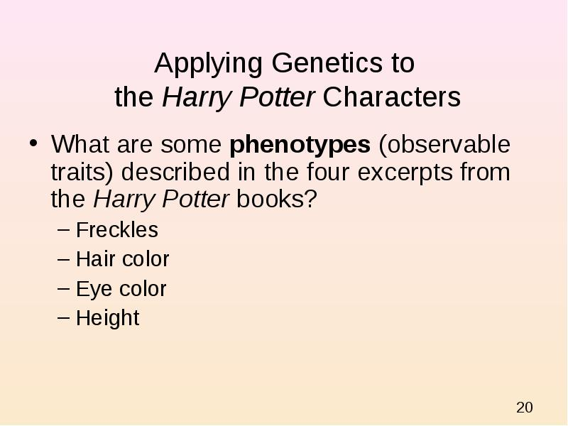 What Types Of Inherited Genetic Traits Are Described In The Harry Potter