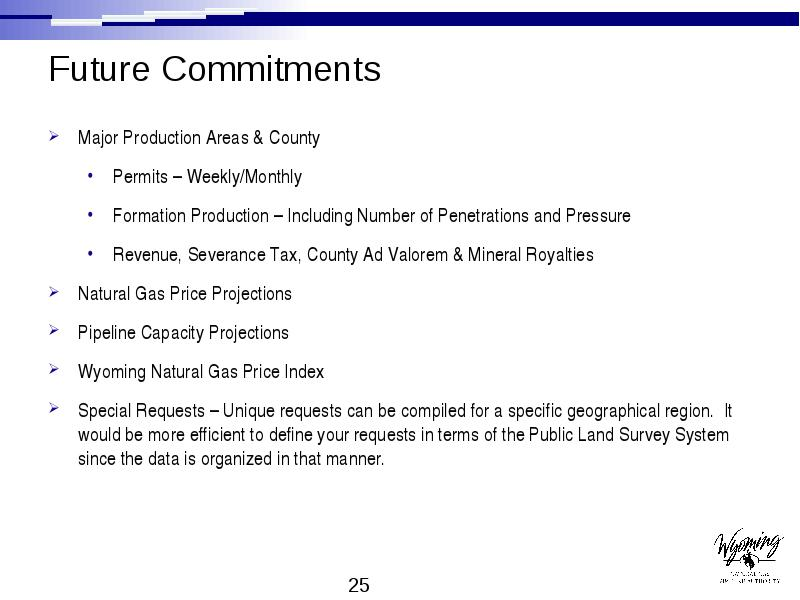 Wyoming's natural gas – At a Glance October 26, 2004
